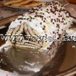Bisküvili piramit yaş pasta