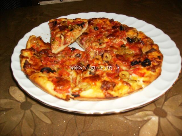 Milfoey pizza tarifi pratik şipşak tost pizzası 5 patlicanli pizza
